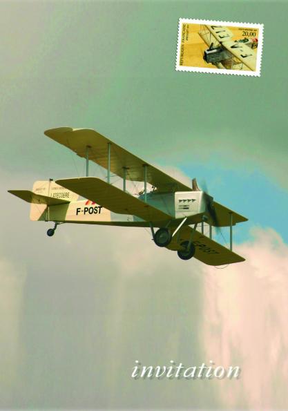Invitation au baptême du Bréguet 14 F-POST