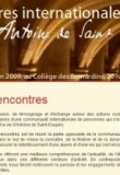 Rencontres internationales aux Bernardins