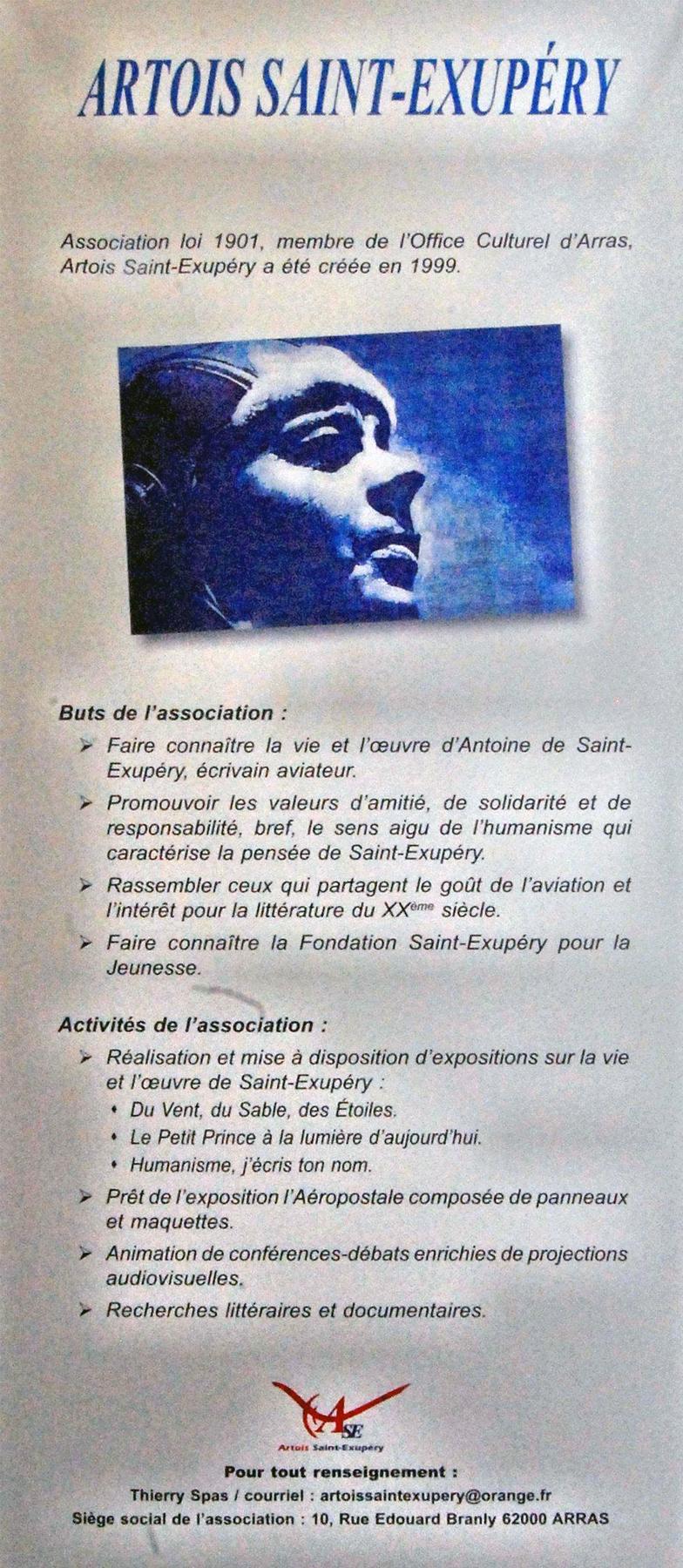 Actualités 2014-2015 de l'Association Artois Saint Exupéry