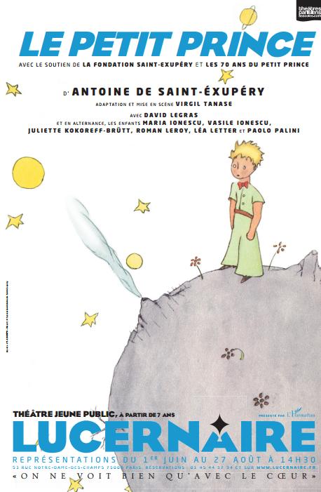 Le Petit Prince au théâtre Lucernaire à Paris !
