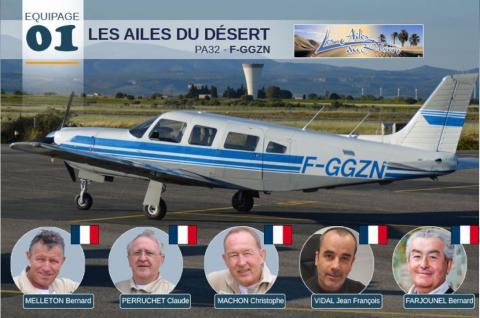 L'équipage 01 «Les Ailes du Désert» au 36ème Rallye Toulouse – Saint Louis du Sénégal